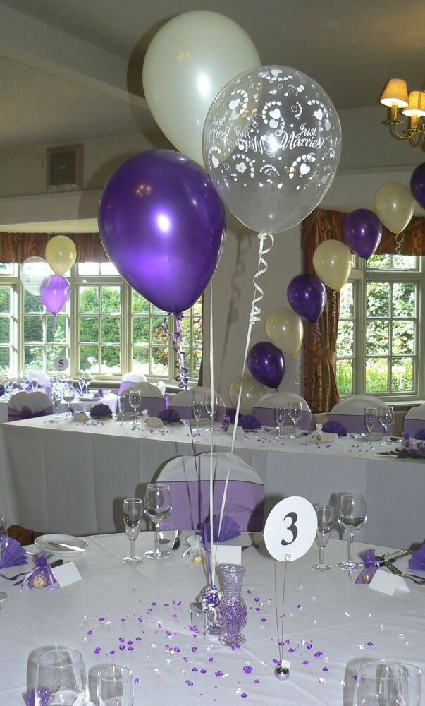 Wedding balloons table decorations many designs