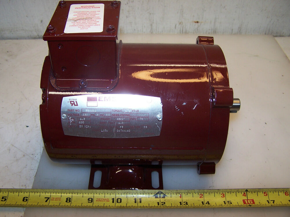 New egs 600 rpm 1 6ft lbs torque motor frame 48cz 230 volt for Buro 600 6ft ups