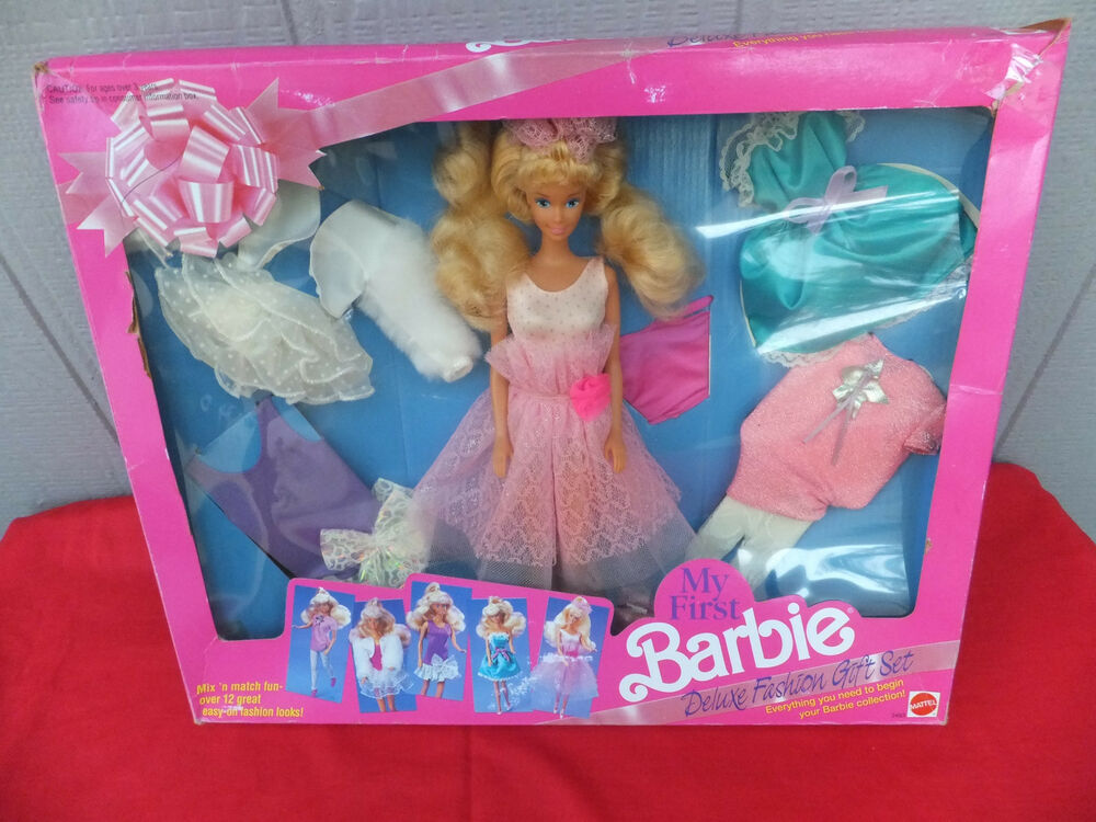 My first barbie deluxe fashion gift set vintage mix