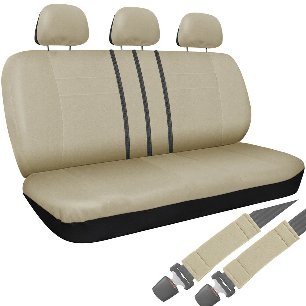 Car Bench Seat ~ Car seat cover beige pc set bench for auto belt pad