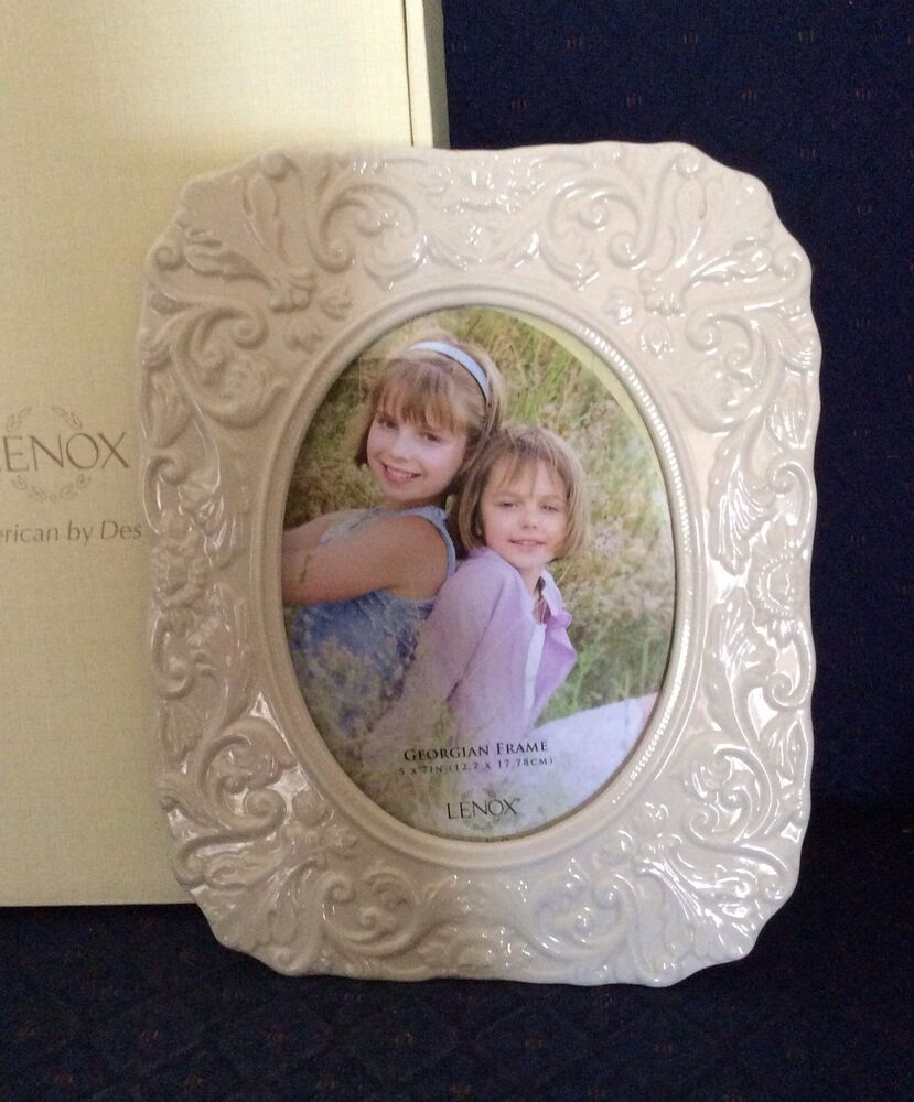 5 215 7 New In Lenox China Picture Frames Vaseore