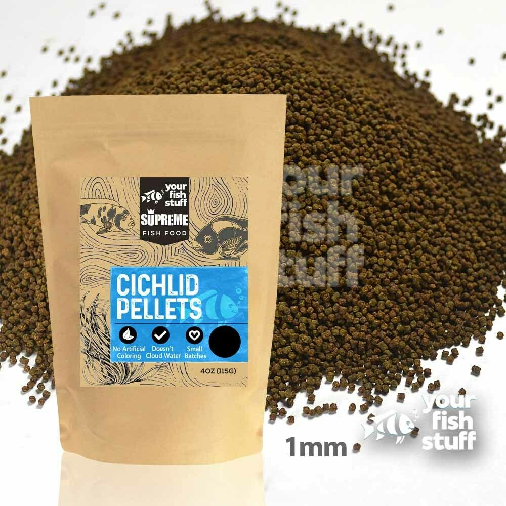 Yfs cichlid pellets bulk aquarium fish food 1 2 lb to 5 for Aquarium fish food
