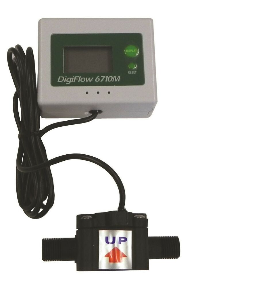 Electronic Water Flow Meter : Quot npt digiflow digital flow meter count up total water
