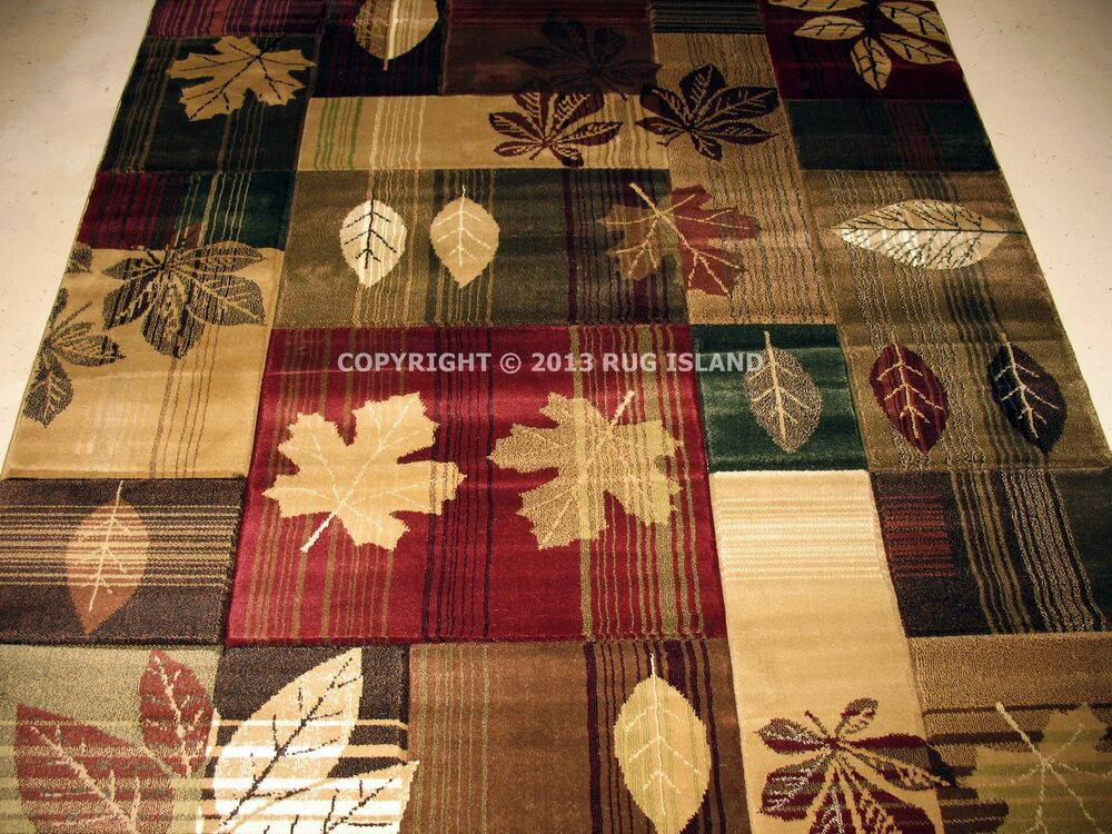 5x8 5 3 Quot X 7 6 Quot Lodge Cabin Forest Rustic Leaf Green