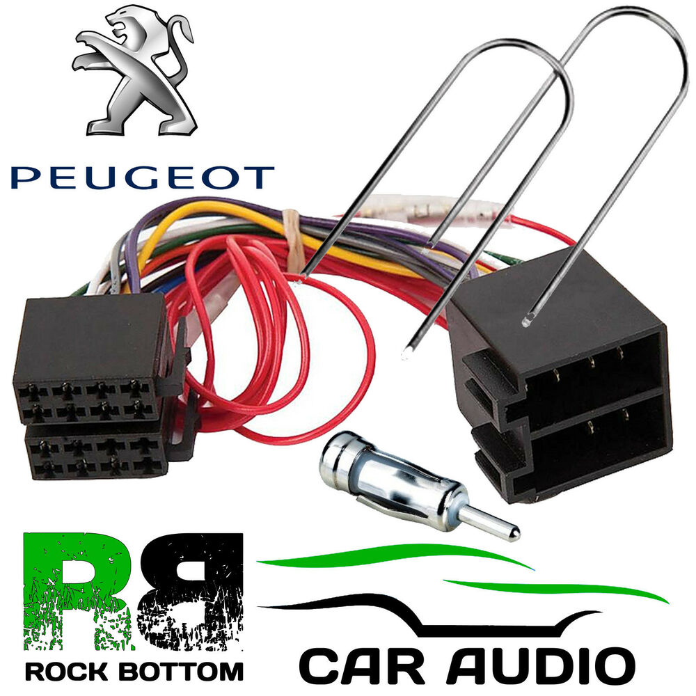 Peugeot 206 Wiring Harness Free Diagram For You Loom 2001 Onwards Car Stereo Radio Iso Lead 106 307