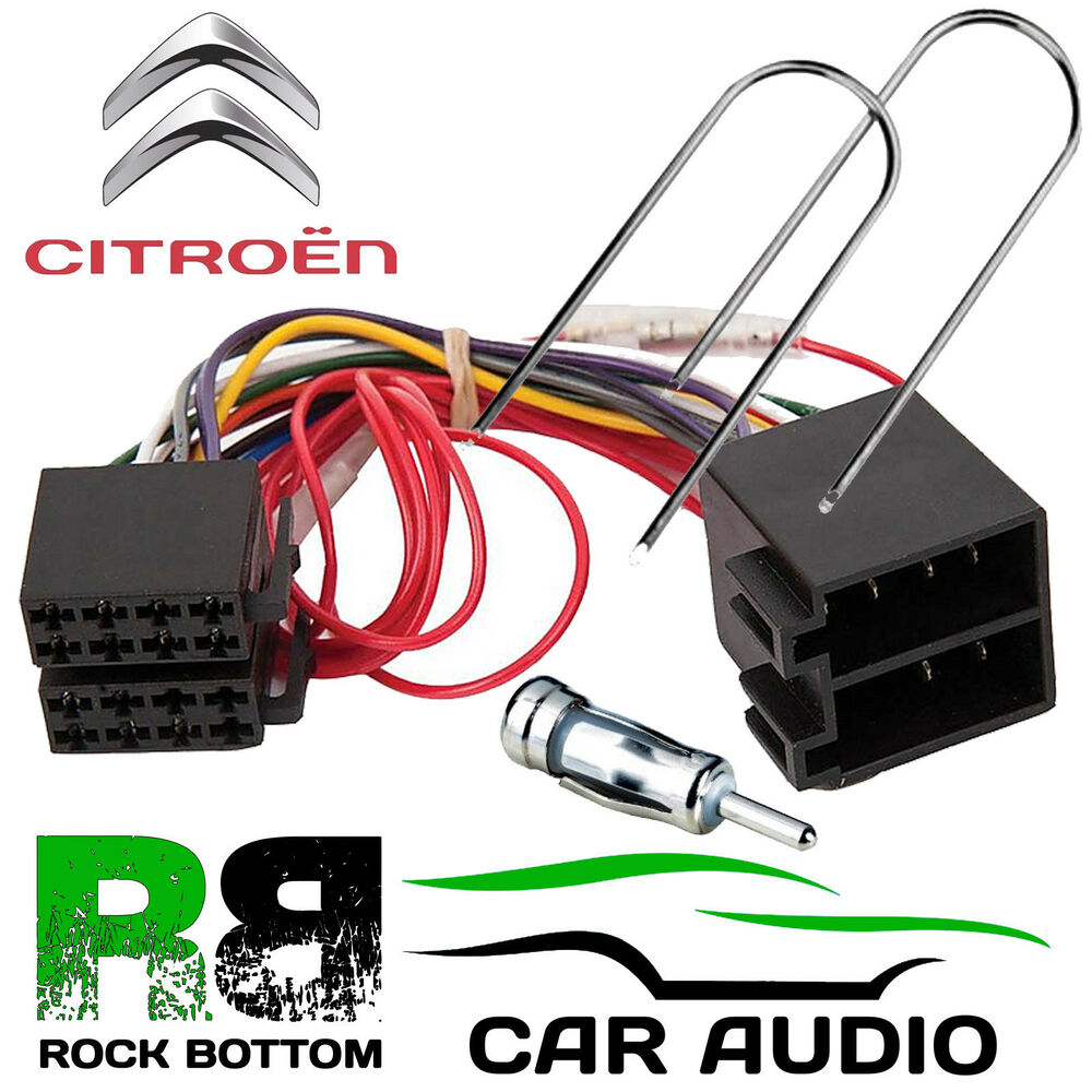 Citroen C3 2002 2005 Car Stereo Radio Iso Harness Lead Adaptor Kit Mazda 3 Cd Fitting Fascia Wiring Loom Ebay Pc2 32 4