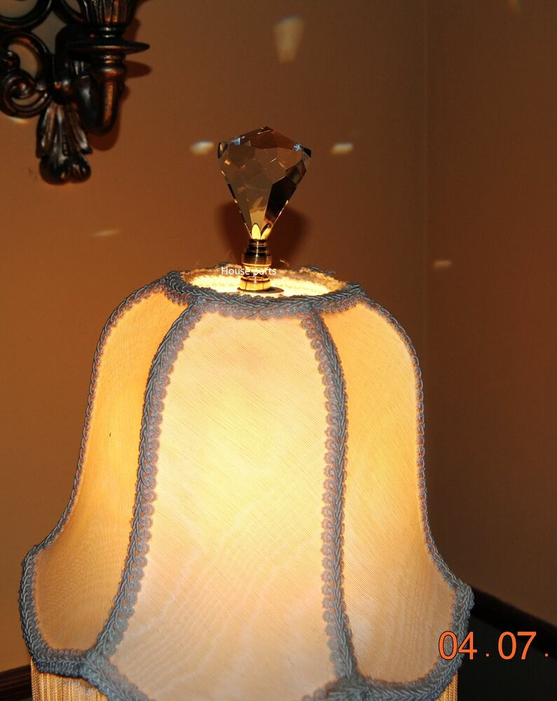 Lamp Topper Shade Finial Diamond Lead Crystal Glass Cut