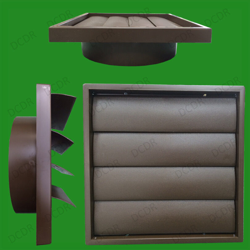 "Diy Kitchen Exhaust Fan: 150mm 6"" Ducting Brown Gravity Flap Wall Kitchen Extractor"