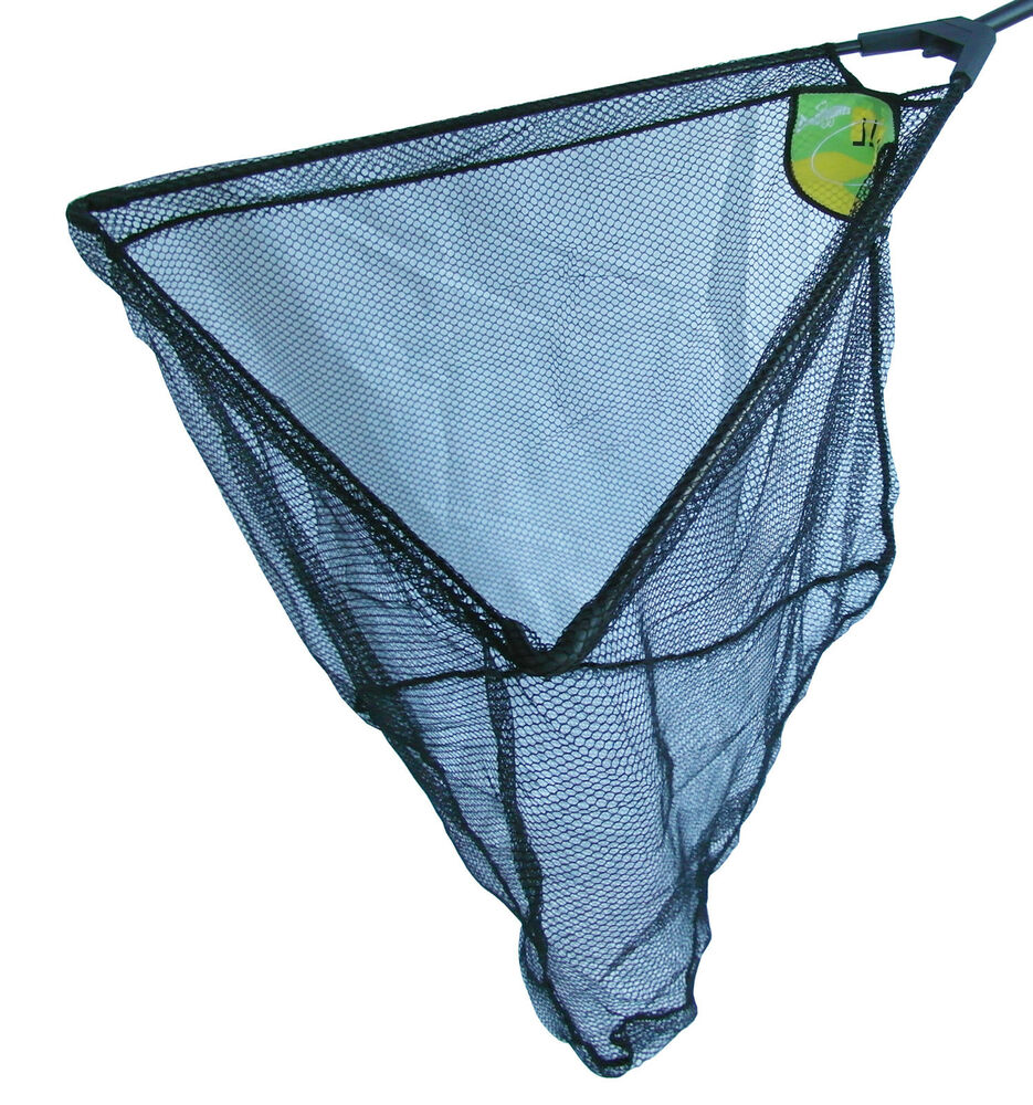 Dinsmores folding triangular fishing landing nets with net for Fish net company