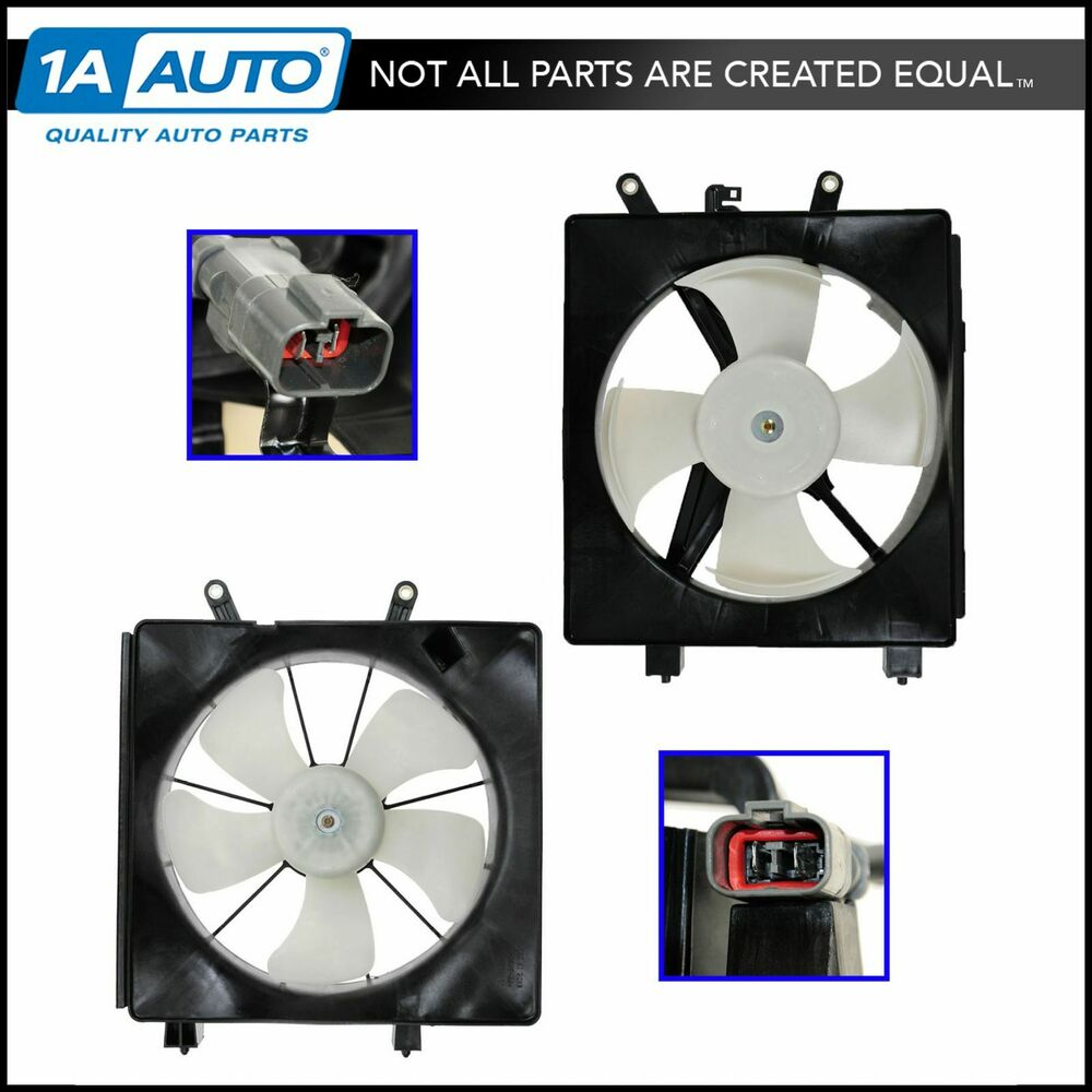 Radiator Ac Condenser Cooling Fan Assembly Pair For