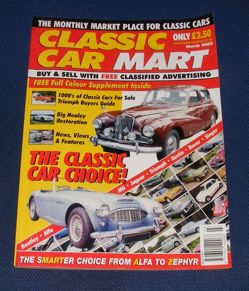 CLASSIC CAR MART MARCH 2002 - THE CLASSIC CAR CHOICE | eBay