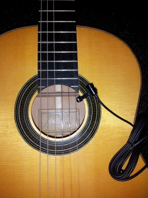 pickup mic for guitar classical flamenco gypsy jazz acoustic ebay. Black Bedroom Furniture Sets. Home Design Ideas