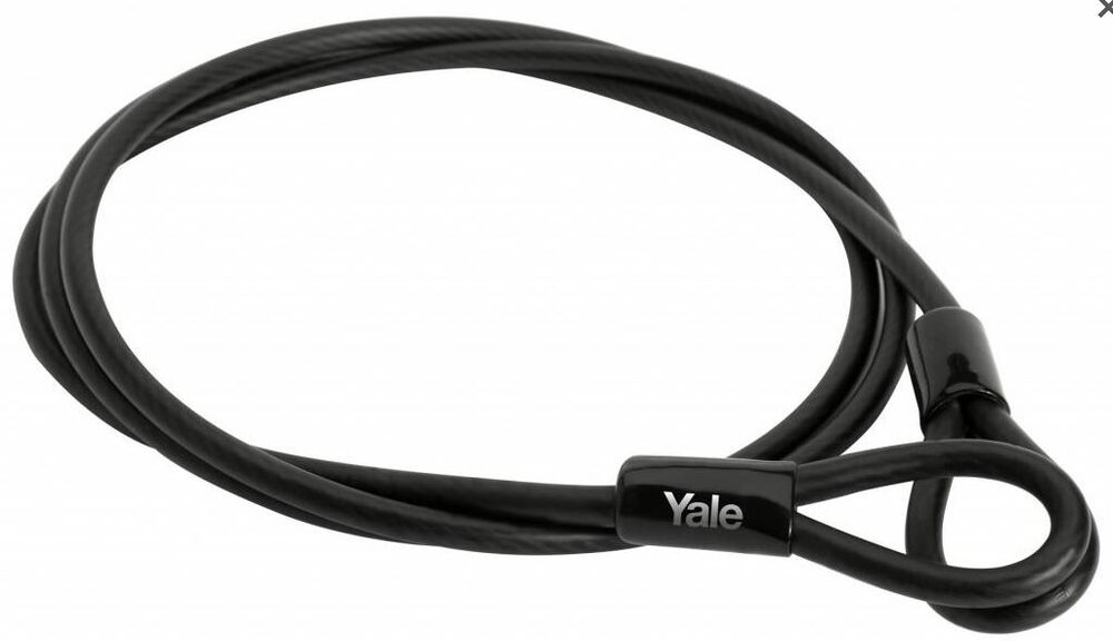 Steel Braided Security Cable : Yale flexible braided steel cable to use with padlock
