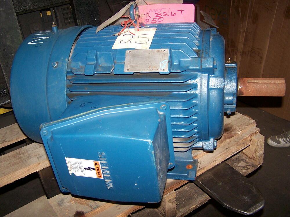 New Siemens 50 Hp Ac Electric Motor Rgzesd 326t Frame 460