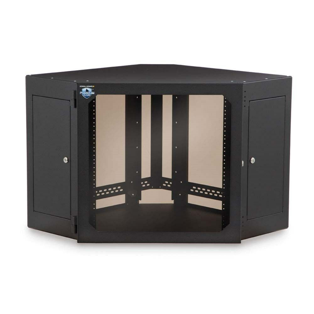 wall mounted corner cabinet kendall howard 12u corner wall mount cabinet smoked glass 6946
