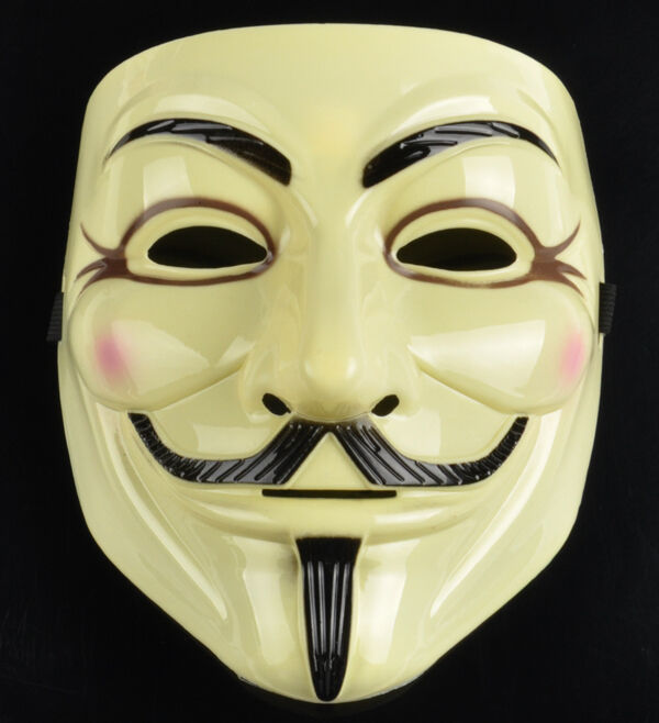 2pcs v for vendetta anonymous guy fawkes mask dc comics official rubie 39 s license ebay - Pictures of anonymous mask ...