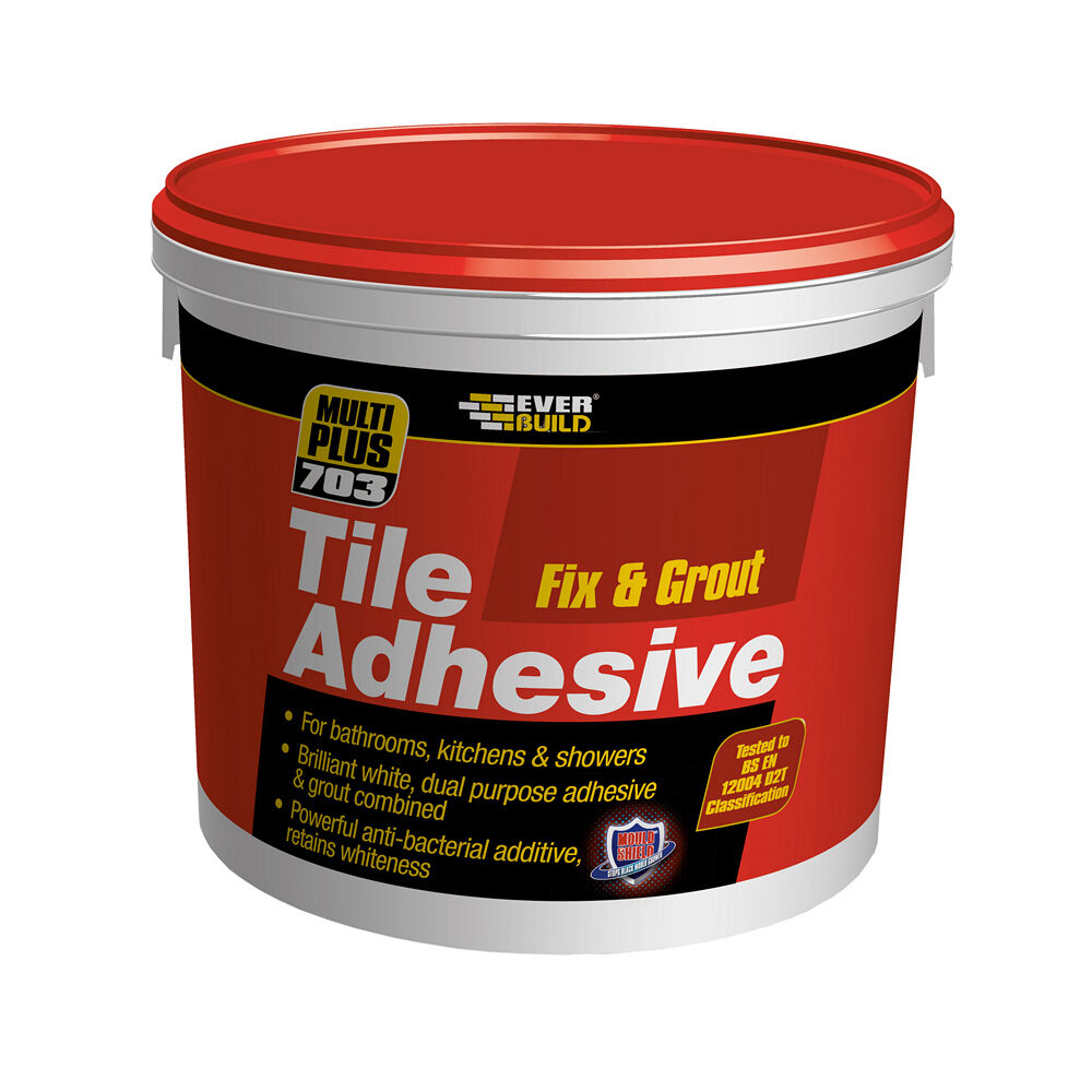 bathroom tile adhesive and grout everbuild 703 fix amp grout premium grade tile adhesive ebay 22398