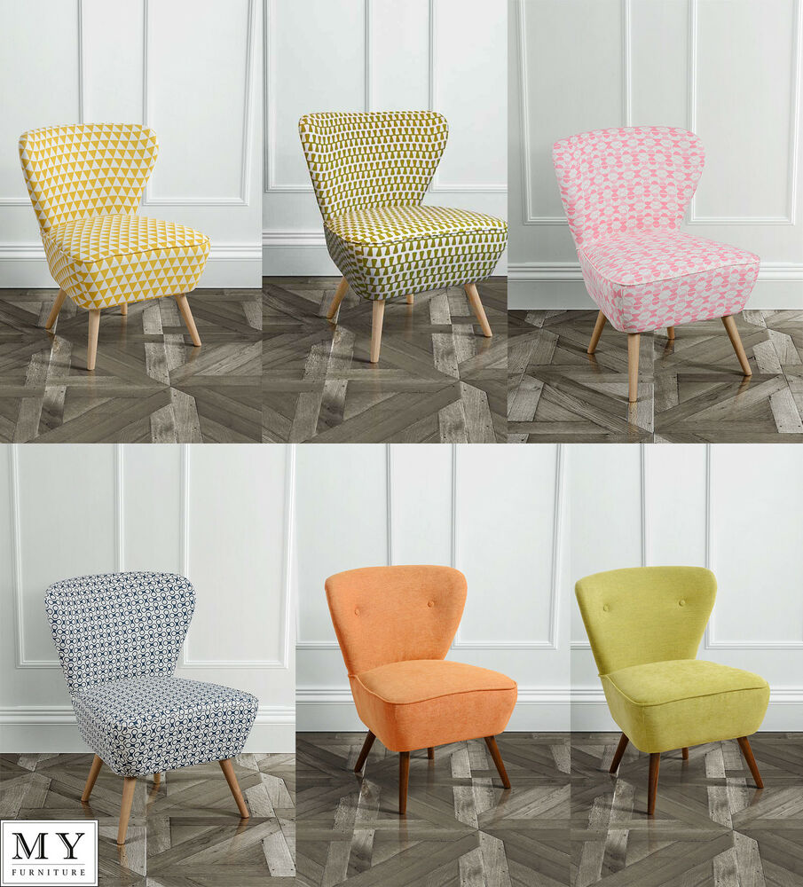 My Furniture Upholstered Retro Occasional Chair Orange