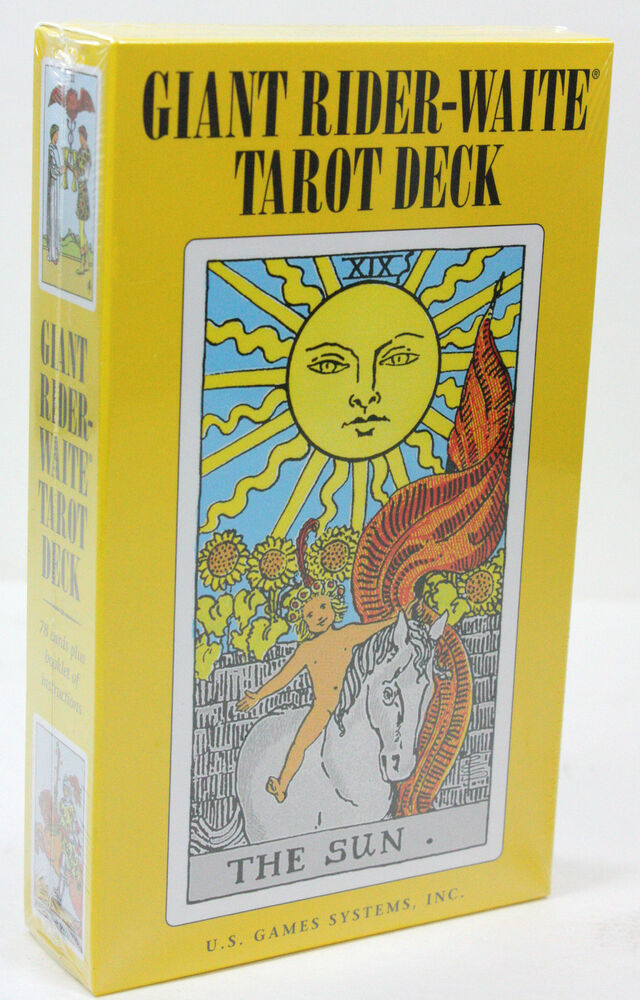 GIANT FAMOUS RIDER WAITE 78 OVERSIZED CARDS TAROT DECK