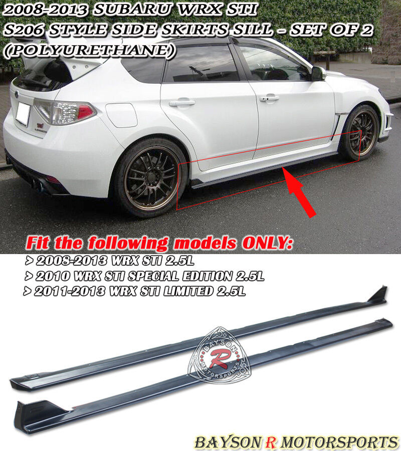 2012 Wrx Side Skirt Extensions For 08 14 Subaru Impreza
