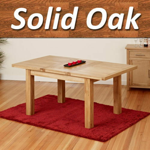 solid oak dining table dining room furniture extending