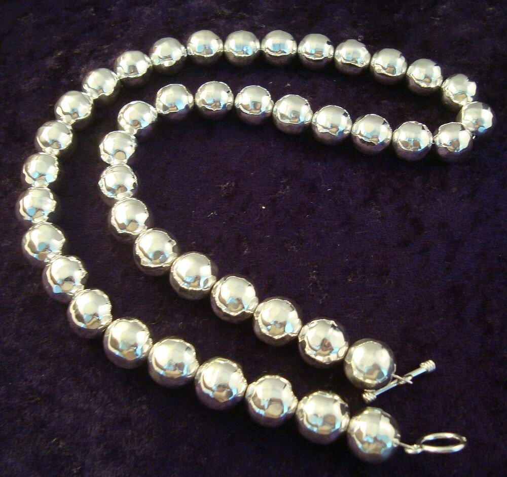 taxco mexican sterling silver hammered beaded bead