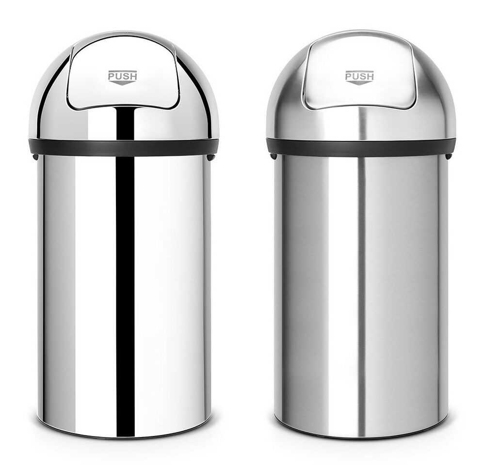 brabantia xxl abfallsammler push bin m lleimer edelstahl 60 l neuheit ebay. Black Bedroom Furniture Sets. Home Design Ideas