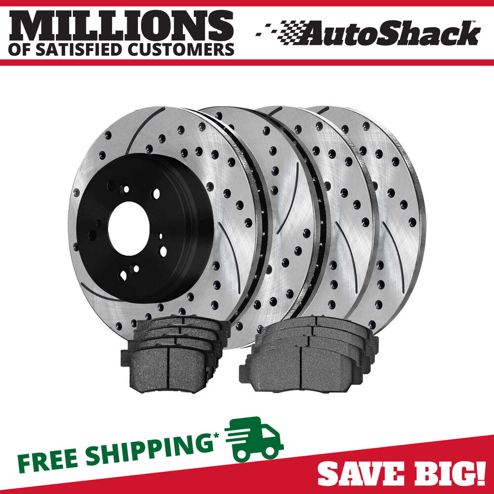 Front & Rear Full Set Of Performance Rotors And Pads For A