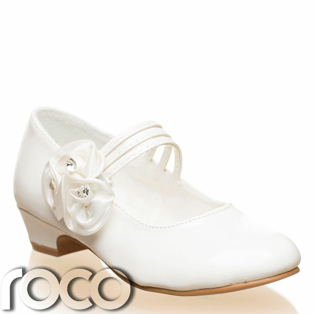 Girls Ivory Shoes, Communion Shoes, Prom Shoes, Flower ...