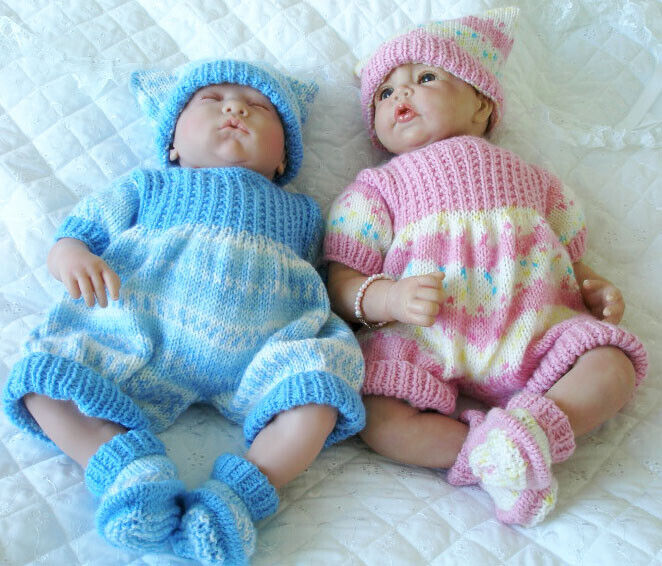 Creative Dolls Designs Knitting Pattern Romper Suit for 17-19