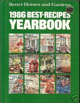 Better Homes Gardens 1986 Best Recipes Yearbook Hb Ebay