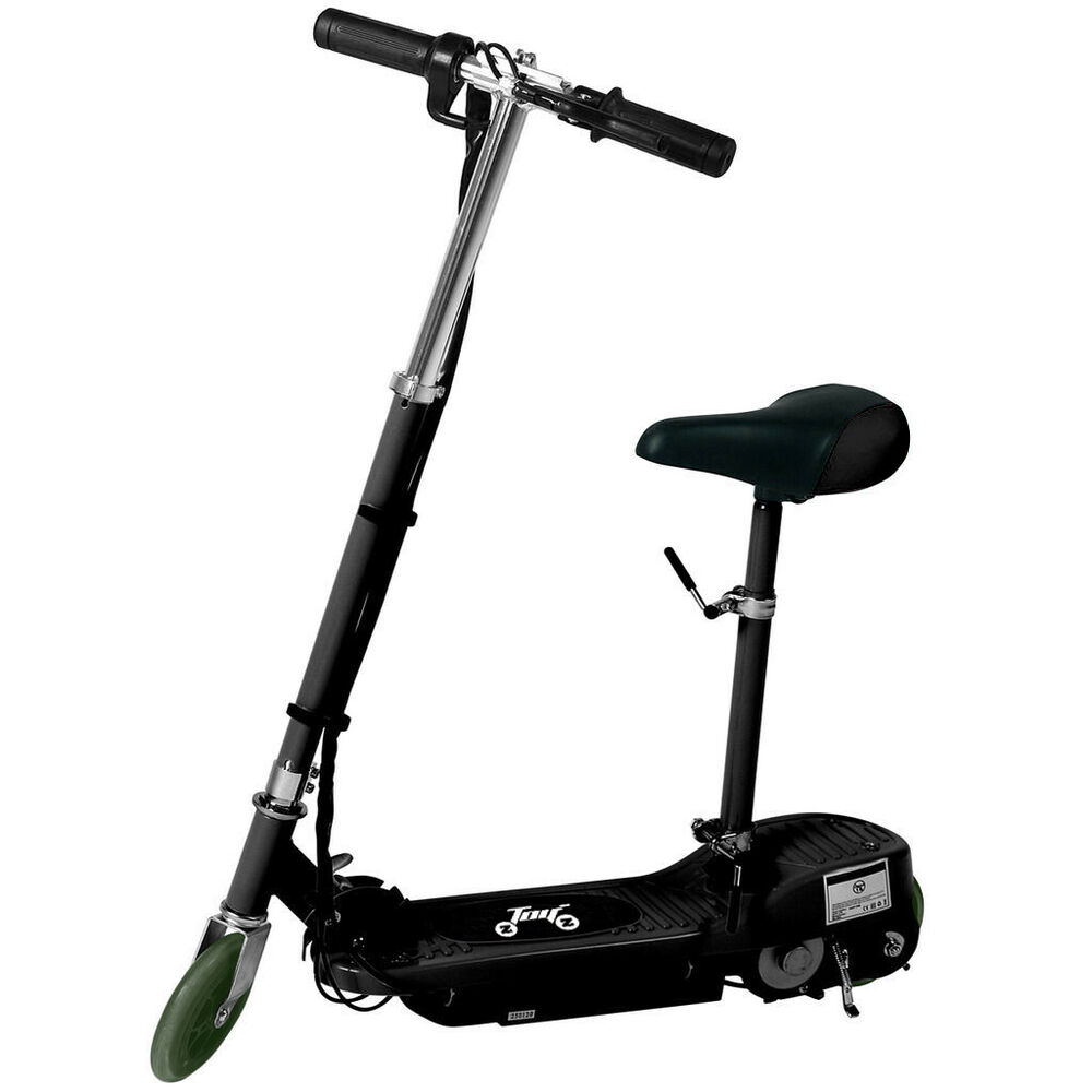new electric e scooter ride on rechargeable battery kids toys seat scooter black ebay. Black Bedroom Furniture Sets. Home Design Ideas