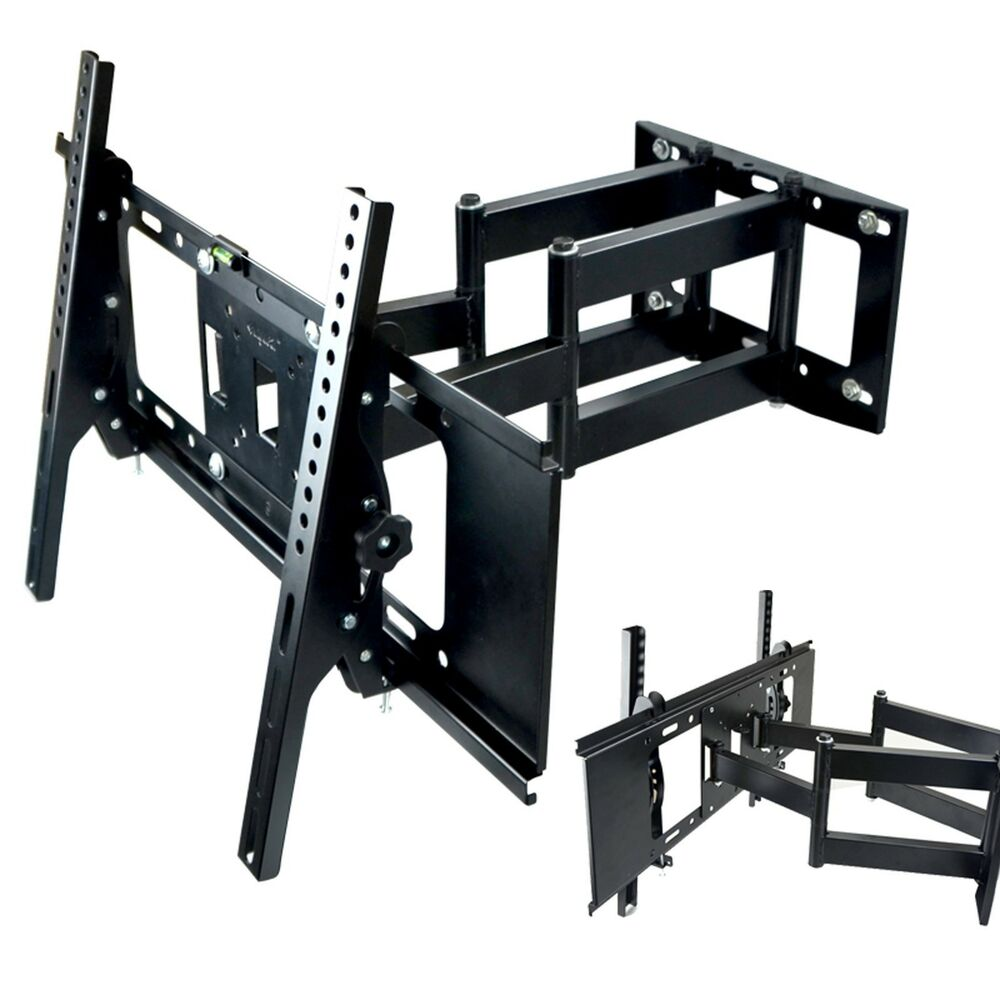 Dual Arm Tilt 15 Swivel 180 Tv Wall Mount Bracket 22 To