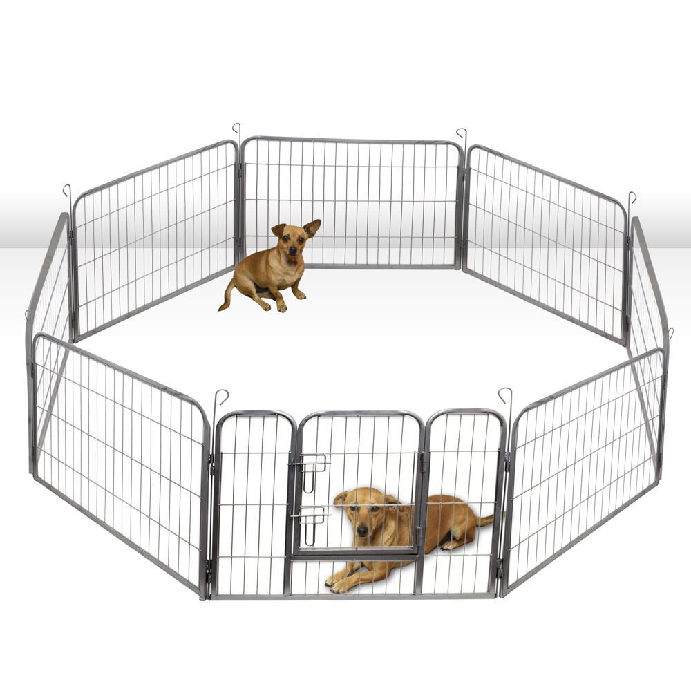 Oxgord Dog Pet Playpen Heavy Duty Metal Exercise Yard