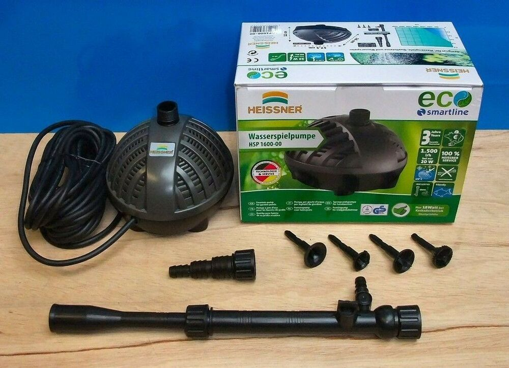 Garden fish pond pump 1500ltr eco fountain waterfall for Best fish pond pump