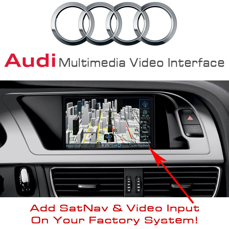 audi a5 q5 a4 satnav gps multimedia video interface