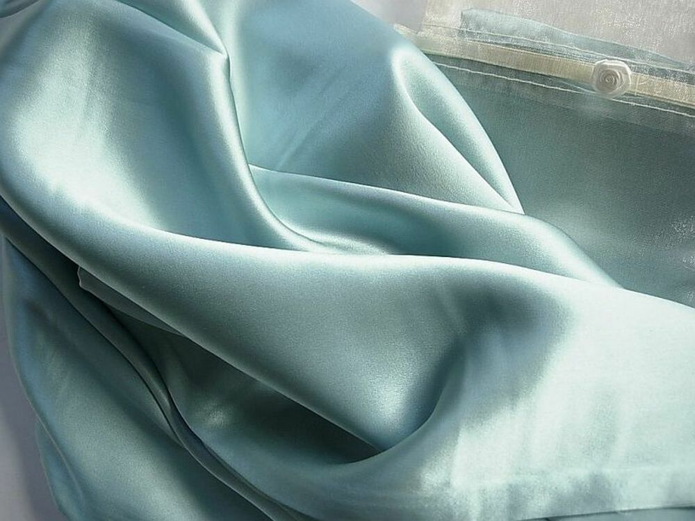 Pure 100 Silk Pillowcase Queen Ocean Blue Pillow Case By