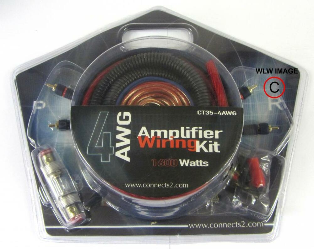 1600watt Complete 4 Awg Gauge Car Amplifier Amp Wiring Kit High Quality High Amp