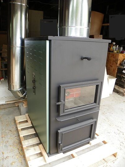 Forced Air One Corn Wood Pellet Multifuel Furnace Stove Ebay