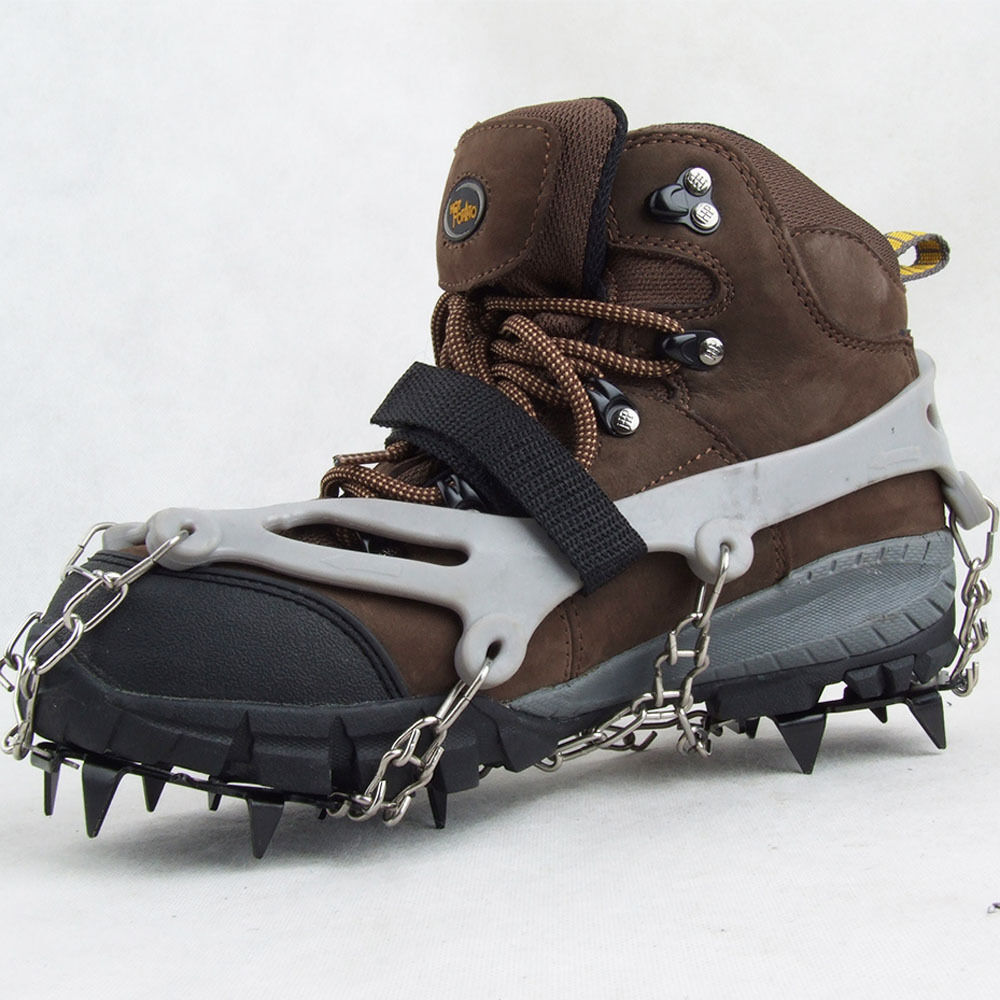 Ice Snow Shoes Spike Grip Boots Chain Crampons Grippers 12 ...