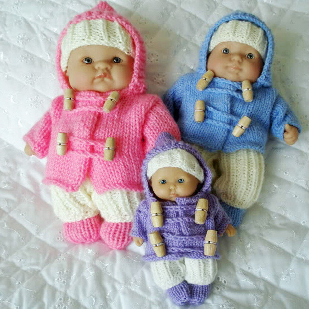 Knitting Patterns For Berenguer Dolls : Creative Dolls Designs Knitting Pattern Duffel Coat For 5-8