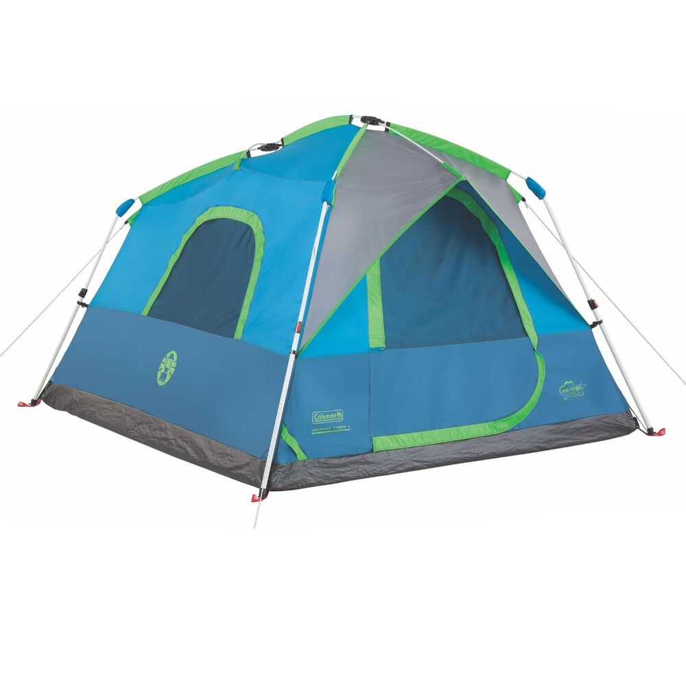 4 Person Tent : Coleman person x family camping instant cabin tent w