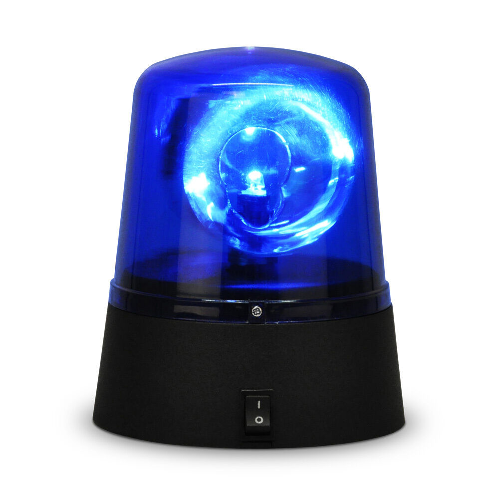 Novelty Rotating Blue Led Police Car Beacon Disco Party Dj