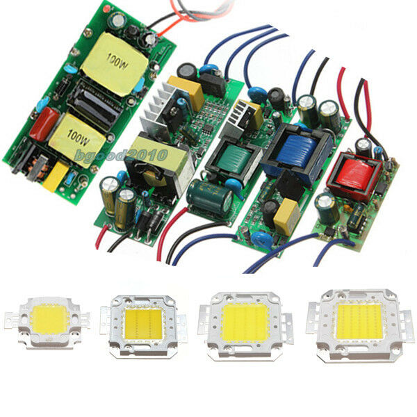 50w Led Power Supply: Driver Power Supply & High Power 10W 30W 50W 100W Watt LED