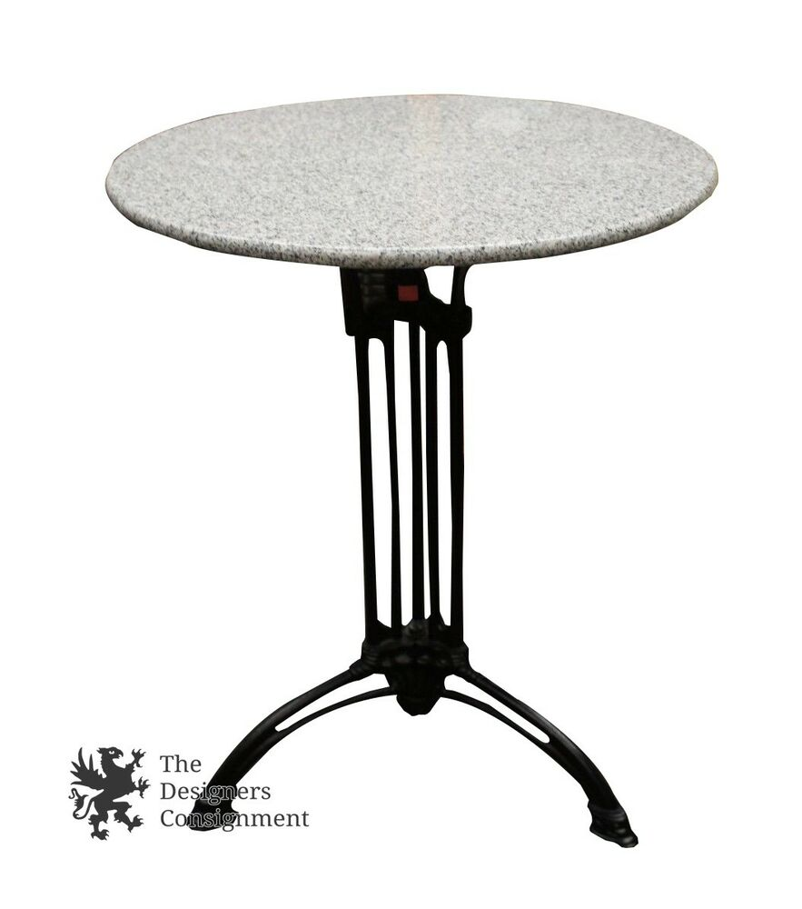 contemporary wrought iron side end coffee accent entryway table granite top ebay. Black Bedroom Furniture Sets. Home Design Ideas
