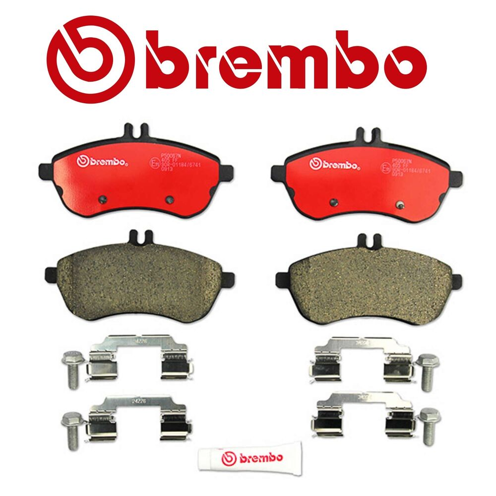New mercedes w204 c250 c300 front disc brake pads brembo for Mercedes benz e350 brake pads replacement