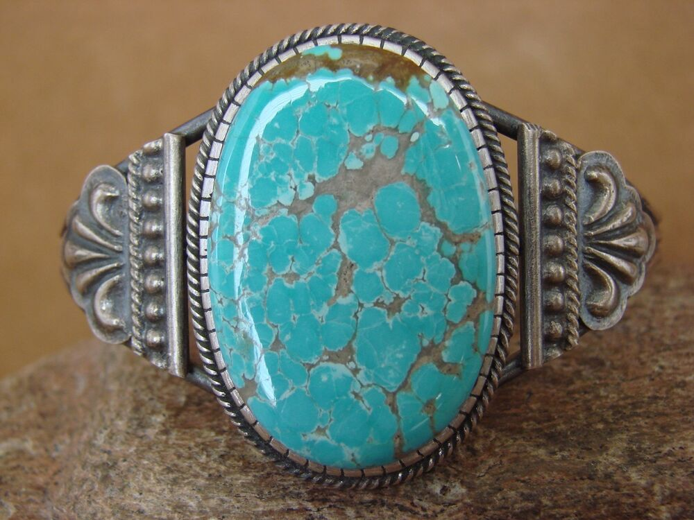 Native American Jewelry Sterling Silver Turquoise Bracelet