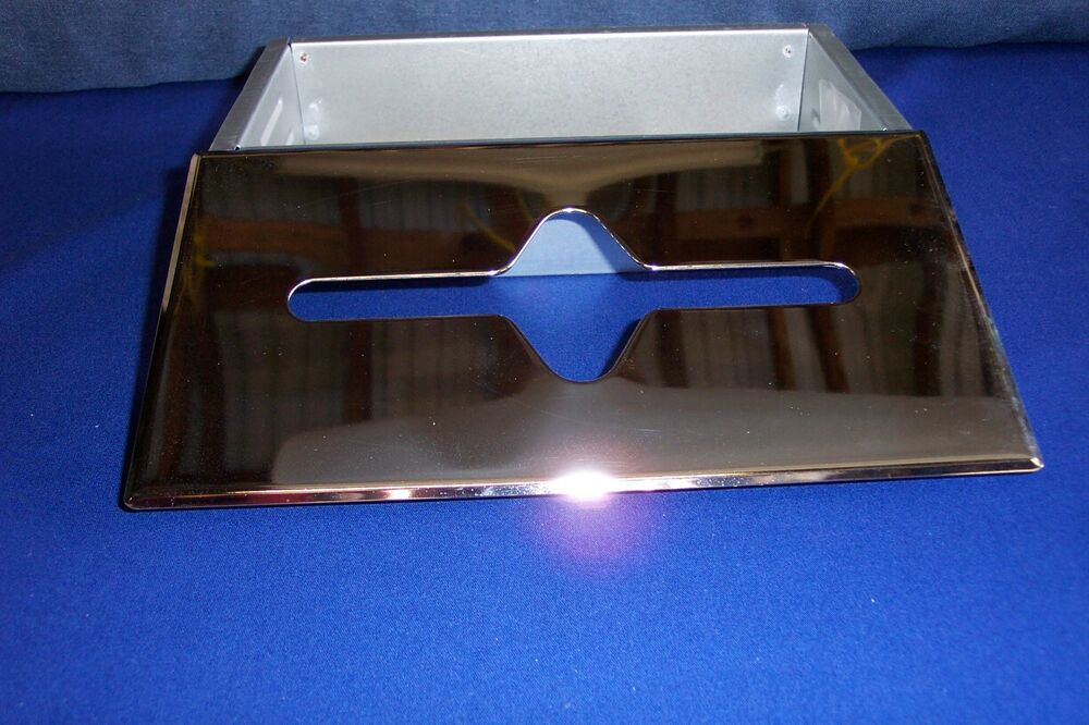 New built in recess facial tissue dispenser with polished chrome cover ebay - Recessed facial tissue dispenser ...