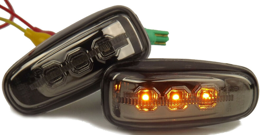 Eagle eyes led side lights repeaters smoked mercedes benz for Mercedes benz indicator lights