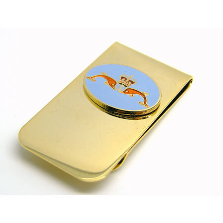 img-THE ROYAL NAVY SUBMARINERS BADGE MONEY CLIP NAVAL MILITARY GIFT IN POUCH